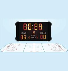 hockey field vector image