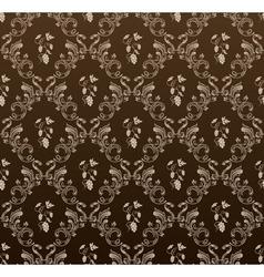 seamless wallpaper background grapes black vintage vector image