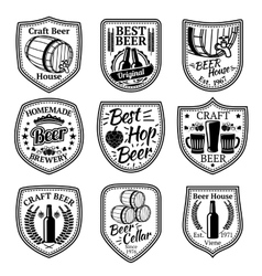 Set of badges for beer and brewery business vector image