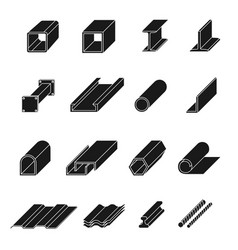 steel product set vector image