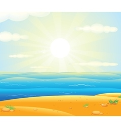 Sunrise over the Tropical Beach vector image vector image