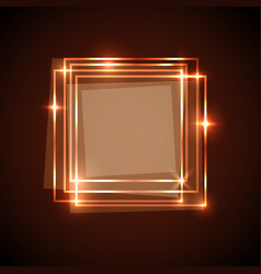 abstract background with orange squares banner vector image vector image