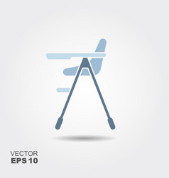 baby high chair vector image vector image