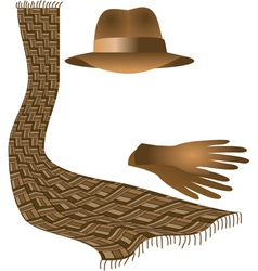 hat scarf gloves vector image vector image