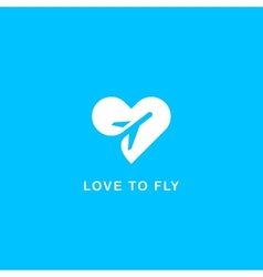 Love to fly symbol vector image