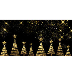 New Year background with Christmas trees vector image