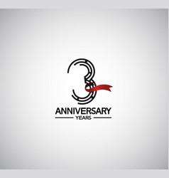 3 years anniversary logotype flat design vector
