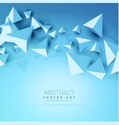 3d triangles abstract blue background vector