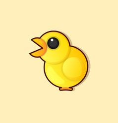 a happy funny cartoon rooster chicken logo vector image