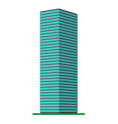 A modern high-rise building on a white background vector