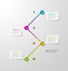 Abstract steps infographics design template vector image