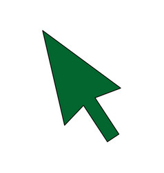 Arrow direction cursor technology icon vector