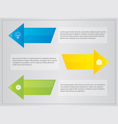 arrow with border text infographic vector image