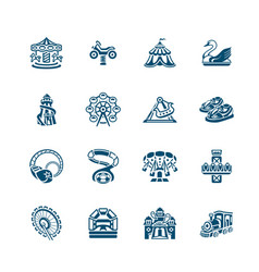 Attraction icons - micro series vector