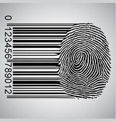 Barcode becoming fingerprint vector