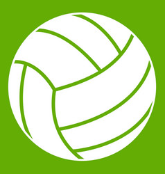 black volleyball ball icon green vector image
