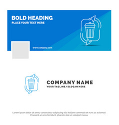 blue business logo template for waste disposal vector image
