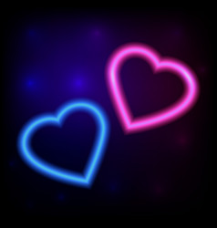 bright heart neon sign retro neon heart ready vector image