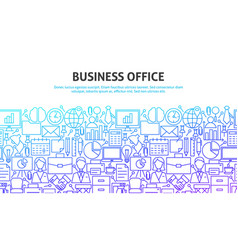 business office concept vector image