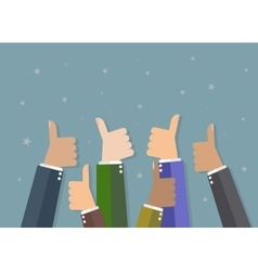 Businessman hold thumbs up vector