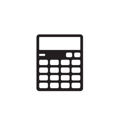 calculator - black icon on white background vector image