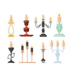 candle holder vintage and modern candelabrum vector image