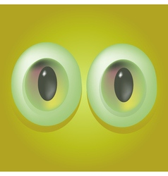 Cartoon monster eyes vector image
