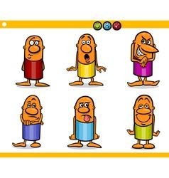 Cartoon people characters emotions vector