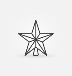Christmas star icon or symbol in thin line vector