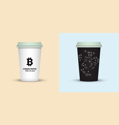 Coffee cup to go cups set collection vector