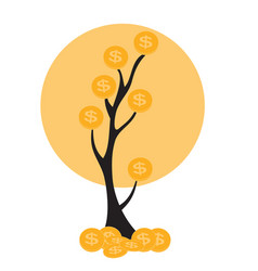 Colored money tree dependence of financial growth vector
