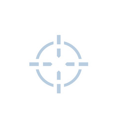 crosshair icon for web and print vector image