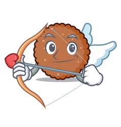 Cupid chocolate biscuit character cartoon vector