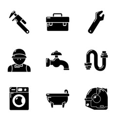 Duct icons set simple style vector