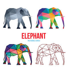 elephant low poly design vector image