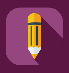 Flat modern design with shadow icons pencil vector