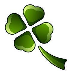 Four leaf shiny clover vector