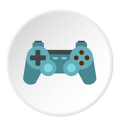 Game joystick icon circle vector
