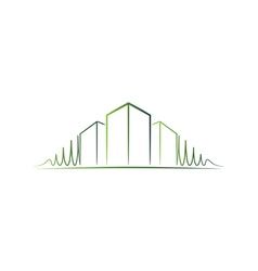 Green architect logo vector image
