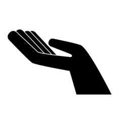 hand palm holding icon design vector image