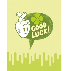 Heart good luck vector