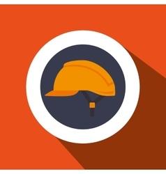 helmet protection industrial icon vector image
