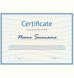 horizontal certificate with pattern vector image