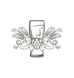 image of beer glass vector image vector image