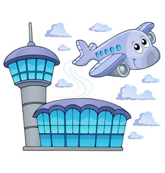 image with airplane theme 6 vector image
