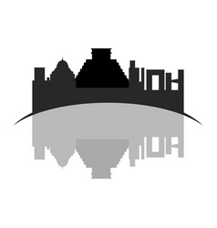 isolated cityscape of mexico city vector image
