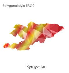 Isolated icon kyrgyzstan map polygonal vector