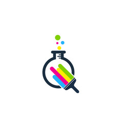 Laboratory paint logo icon design vector