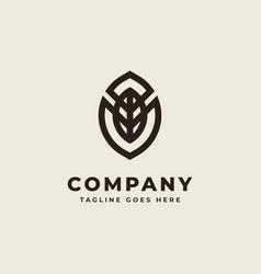 Leaf monogramleaf monogram logo design concept vector