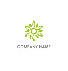 Leaf ornament decoration eco logo vector